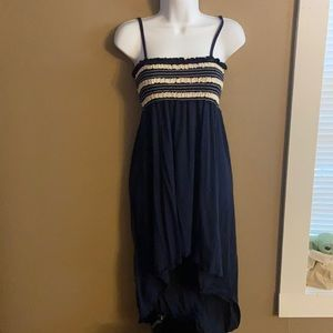 High low summer dress with spaghetti straps